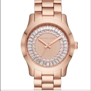 Michael Kors Rose Gokd & Crystal Bling Watch !